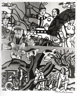 Fernand Leger in his atelier of Gif-sur-Yvette, 1954 by Fernand Leger