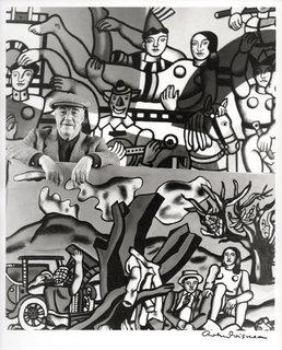 Fernand Leger in his atelier of Gif-sur-Yvette, 1954 by Fernand Leger