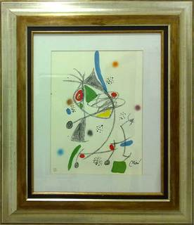 Litografia numerada y firmada by Joan Miró
