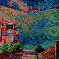 Seascape with a villa 3 by Inga Erina