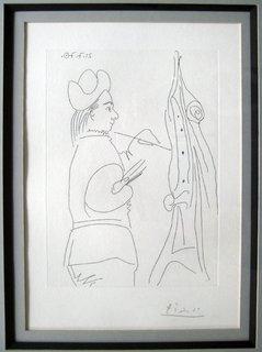 Jeune Peintre a son Chevalet by Pablo Picasso