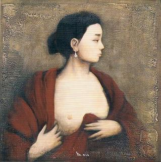 After Tintoretto:Portrait of a Woman Revealing her breast by Yin Xin