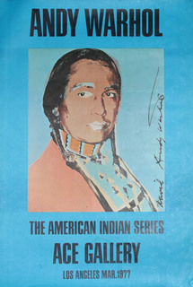 The American Indian Series: Ace Gallery (Russell Means) by Andy Warhol