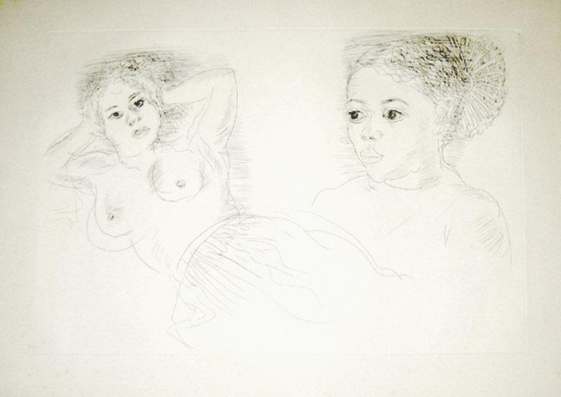 Portrait of two women by Raoul Dufy