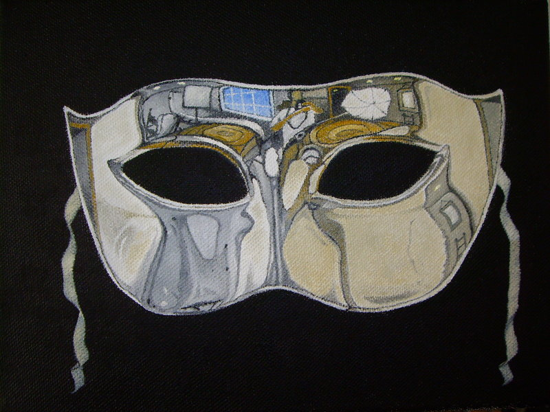Mirror mask (Self-Portrait) by PACHI