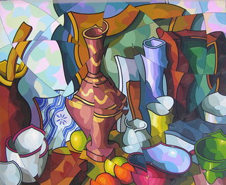 Composicion con vasija egipcia by José Sanz Sala
