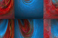 Red and blue palette III by Brandan