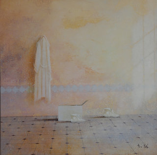 Interior with bathrobe by Tomasa Martin