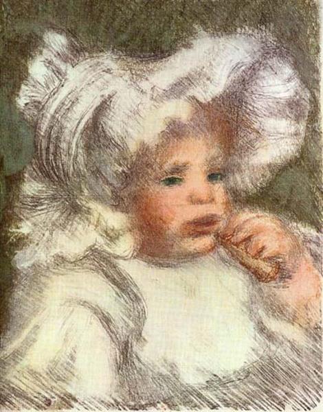 L Enfant Au Biscuit Original Art By Pierre Auguste Renoir