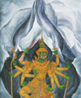 Rawana's Desire (after G. O'Keeffe) by Jirapat Tatsanasomboon