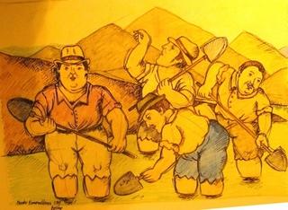 Los Esmeralderos by Fernando Botero
