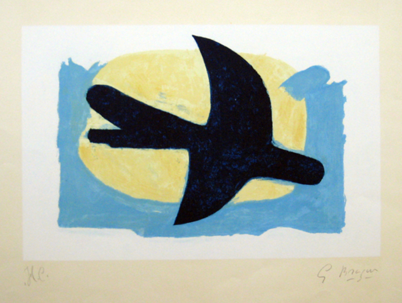 Blue And Yellow Bird Original Art By Georges Braque