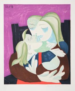Femme Et Enfant Enlacés by Picasso Estate Collection