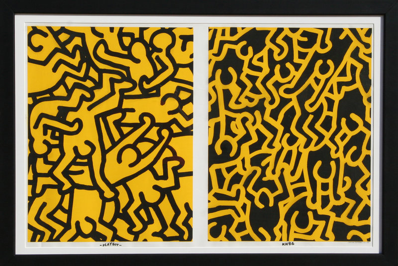 Playboy I Original Art by Keith Haring :: PicassoMio