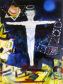 Jesus Rising Over The World At Night by Eric Henty