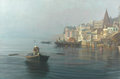 Early Morning on the Ghats, Varanasi by Pip Todd Warmoth