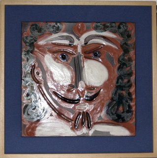Face with goatee by Pablo Picasso