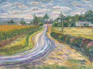 A road to a vilage by Moti Lorber