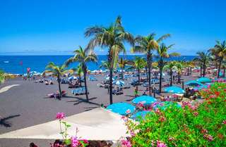 Jardin Beach in Puerto de La Cruz by Atman Victor