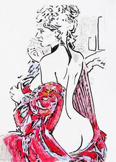 NUDE  for FLOWERS by Raquel Sara Sarangello