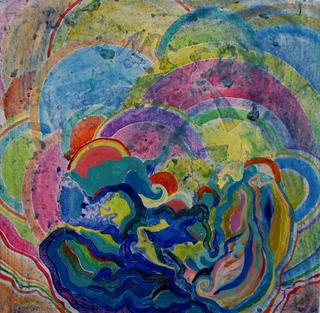 Mantra ( tibetan impression serie) by Inga Erina