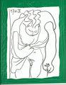 Encadrement d'un Dessin pour Madoura by Pablo Picasso
