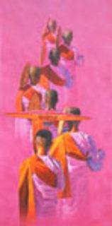 Solemn in Pink by Aung Kyaw Htet