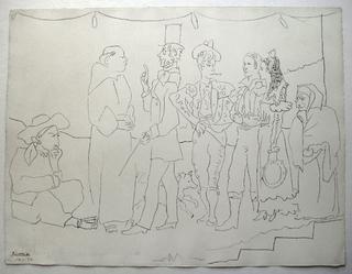 Troup of actors - Troupe d'acteurs by Pablo Picasso