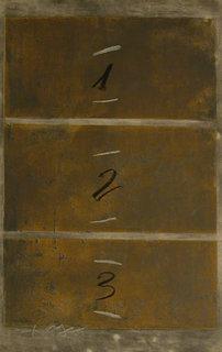 Triptic Vertical by Antoni Tàpies