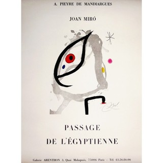 """Joan Miro, """"Passage of the Egyptian"""" by Joan Miró"""
