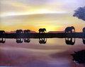 Atardecer en Africa by Miriam Ruiz