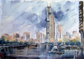 Wiew of Chicago by Juan Félix Campos