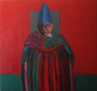 Pope 3 with blue helmet by Ricardo Hirschfeldt
