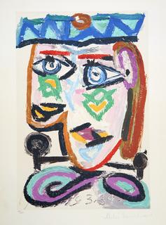 Femme au Béret by Picasso Estate Collection