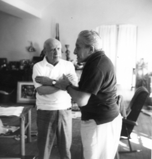 Portrait of Pablo Picasso and Joan Prats by Pablo Picasso