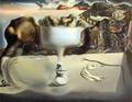 Aparicion de rostro y frutas by Salvador Dalí