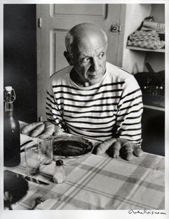 Picasso and the loaves, Vallauris 1952 by Robert Doisneau