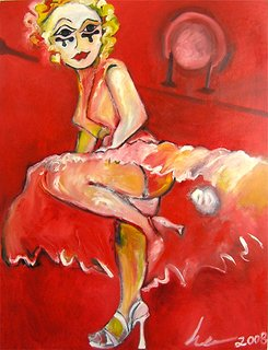 Marilyn in Red by Eric Henty