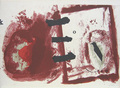 from 'Retornos de Lo Vivo Lejano' pl.5 by Antoni Tàpies