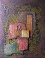 Abstracción en  ocres y rojos by José Sanz Sala