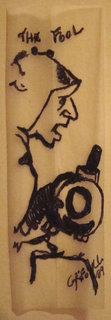 "Ink on cigarette paper ""THE FOOL"" by josep grifoll casas"