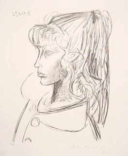 Sylvette de Profil Gauche by Picasso Estate Collection