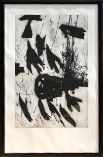 Sirene - Triptych #3 by Mimmo Paladino