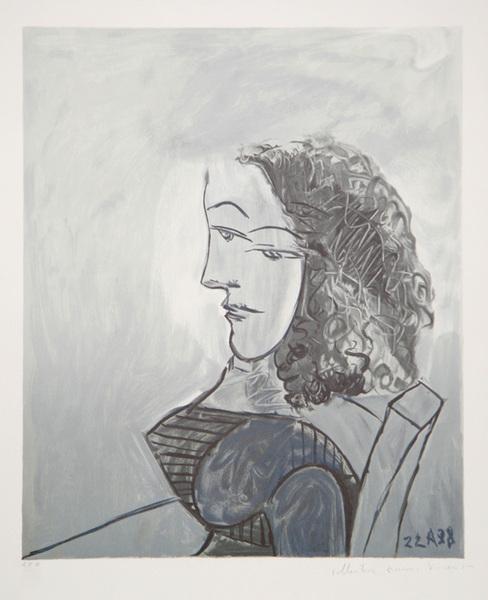 Buste de Femme aux Cheveux Bouclés Original Art by Picasso Estate ...
