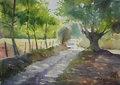 "Path in the woods by Enrique López Suárez ""Elosu"""