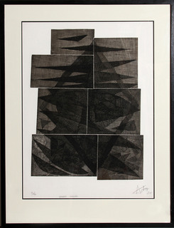 Henry-Georges Adam, Ombres Gravees Framed Etching by Henry-Georges Adam