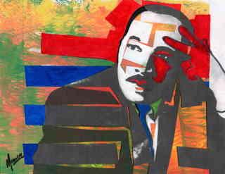 Martin Luther King jr,Ebenezer baptist church by Marco Mark
