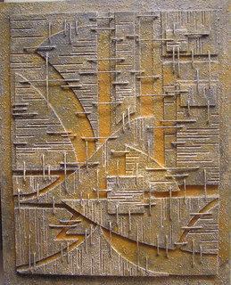 Abstracción en gris y ocre by José Sanz Sala
