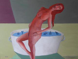 Woman with fishen by Ricardo Hirschfeldt