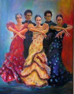 Flamenco dancers 4 by Sylva Zalmanson